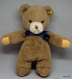 Steiff  Tapsy Teddy  Bear Plush 30cm 12in Unjointed 1980 Foam Stuffed Vtg  Cuddly  Steiff AllOccasion 256ea8ee5c529