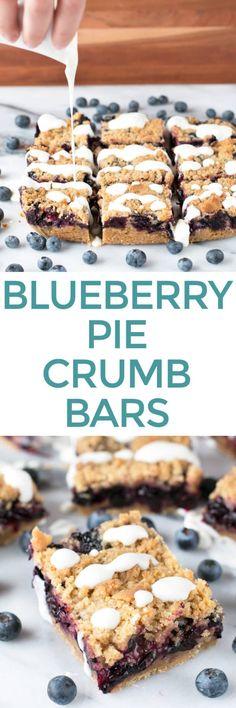 Blueberry Pie Crumb Bars – Cake 'n Knife