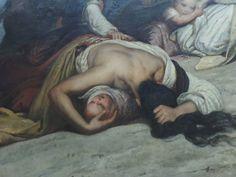 As mulheres suliotas, de Ary Scheffer (França, 1795-1858), foi inspirado no conflito entre turcos e suliotas. A imagem é emblemática em sua representação do desespero feminino diante da morte e da violência da guerra eminente. (Imagem: MUSEU DO LOUVRE, PARIS – FRANÇA)