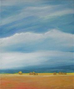 jos24 / Krajina s obilím Art For Sale, My Arts, Painting, Painting Art, Paintings, Painted Canvas, Drawings