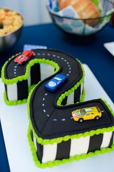 If we do a cars themes birthday? For his own personal cake ? If we do a cars themes birthday? For his own personal cake ? 2 Year Old Birthday Cake, Number Birthday Cakes, 2nd Birthday Boys, Number Cakes, Cars Birthday Parties, Car Birthday Cakes, Birthday Ideas, Car Themed Birthday Party, Boys Birthday Cakes Easy