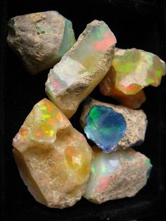 Rainbow Stones - I would have a bowl of these on my coffee table