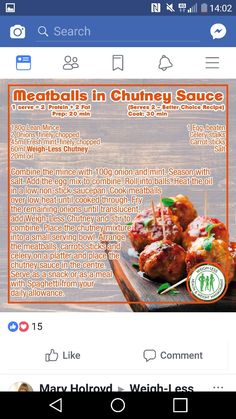 Chutney meatballs Mince Recipes, Lamb Recipes, Appetizer Recipes, Healthy Eating Recipes, Low Carb Recipes, Cooking Recipes, Food N, Food And Drink, Dieting Foods