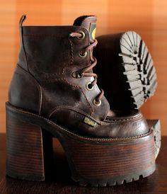 super high BUFFALO platform boots 90's Club Kid Grunge Gothic 90s boots vintage killler boots chunky clubkid platform goth boots