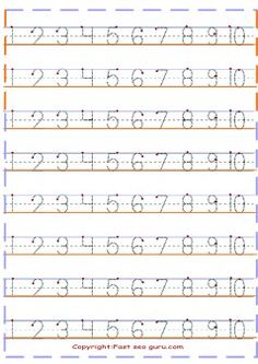 1 to10-number tracing worksheets preschool - Printable Coloring Pages For Kids