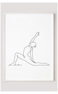 Yoga Drawing, Line Drawing, Drawing Poses, Yoga Kunst, Yoga Painting, Yoga Illustration, Art En Ligne, Yoga Art, Art Mural