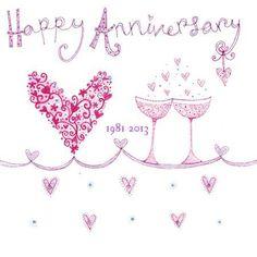 Happy anniversary 2013 Anniversary Wishes For Parents, Happy Anniversary Wedding, Wishes For Brother, Happy Anniversary Quotes, Anniversary Greetings, Birthday Greetings, Birthday Wishes, Anniversary Gifts, Happy Birthday