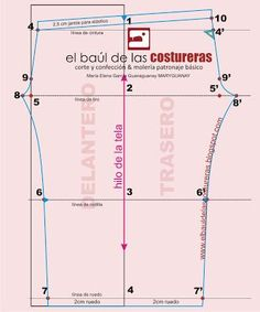 🖐APRENDE CORTE Y CONFECCIÓN DE PIJAMAS PASO A PASO GUÍA COMPLETA ONLINE Y GRATIS 🖐 Pattern Drafting Tutorials, Sewing Tutorials, Sewing Ideas, Sewing Pants, Sewing Clothes, Clothing Patterns, Sewing Patterns, Fashion D, Pin On