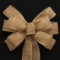 Natural Burlap Wire Edge Rustic Wedding Bows by PackagePerfectBows, $12.99