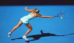 Maria Sharapova in her 2nd Round match at the Australian Open 2014 #WTA #Sharapova #AUSOpen
