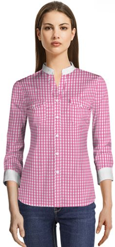 df6caad532422 13 Best Casual Blouse Collection images | Shirt jacket, Chemise ...
