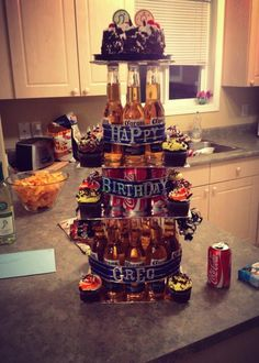 Beer cake! He was so surprised and it's so easy to make :)