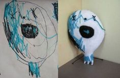 Children's drawings made into stuffed animals!