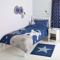 Buylittle home at John Lewis Moon & Back Applique Duvet Cover and Pillowcase Set, Single Online at johnlewis.com