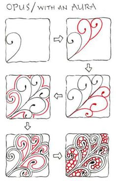 Zentangle Patterns Step By Step