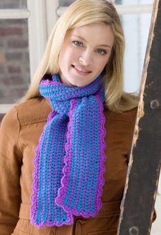 Scalloped Crocheted Scarf - free crochet pattern