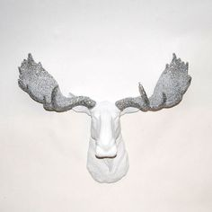 Faux Moose - The Theodora - White w/ from WhiteFauxTaxidermy on