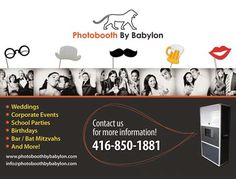 Photobooth Rentals for Weddings and special events in Toronto http://www.photoboothbybabylon.com Babylon #PhotoBooth uses the most current Photobooth technology to assure your photo quality and prints are of the highest standard. Our Photobooth operators are trained, professionals who will encourage your guests to enjoy their photo shoot assisting in prop placement and machine operation.