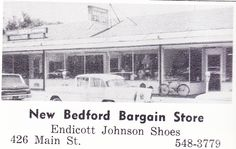 New Bedford Bargain store. Late 60's.