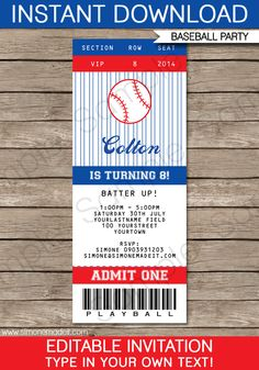 party invitations invitations and baseball invitations on pinterest. Black Bedroom Furniture Sets. Home Design Ideas