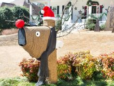 The holiday experts at HGTV.com share step-by-step instructions for turning your mailbox into a rustic reindeer.