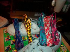 doing this. yup. duck tape shoelaces.