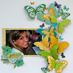 love the butterflies! Ha! if only my scrapbooks could look like this! gosh i love b flies