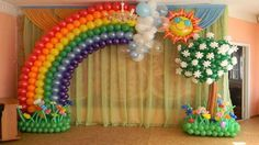 The astonishing effects which is often achieved with Wedding Balloons in London are fantastic, like a balloon arch to walk under as you your event, or to frame your head table or dance floor. The probabilities are limitless, and there is not stop you having more than one. This can be of course your day, and you could have what you want. Rainbow Balloons, Rainbow Theme, Rainbow Birthday, Birthday Balloon Decorations, Party Decoration, Love Balloon, Balloon Flowers, Balloon Columns, Balloon Arch
