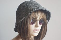 Check out this item in my Etsy shop https://www.etsy.com/listing/226574434/woman-crochet-summer-hat-raffia-hat