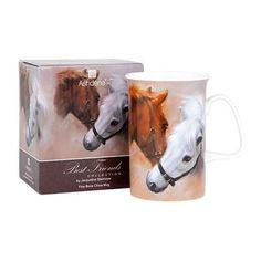 Best Friends Horse Mug. Gift boxed, Bone China, mug featuring a chestnut horse and white horse nuzzling. Chestnut Horse, Horse Stalls, Best Friends, Tableware, Gifts, Beat Friends, Bestfriends, Dinnerware, Presents