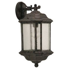 Sea Gull Lighting Kent Bronze Outdoor 1-Light Wall Lantern