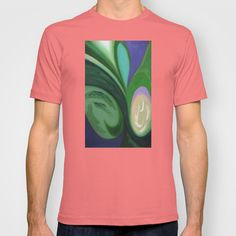 Abstract Green Peace T-shirt by Robert Lee - $18.00 #art #graphic #design #iphone #ipod #ipad #galaxy #s4 #s5 #s6 #case #cover #skin #colors #mug #bag #pillow #stationery #apple #mac #laptop #sweat #shirt #tank #top #clothing #clothes #hoody #kids #children #boys #girls #men #women #ladies #lines #love #colour #abstract #light #home #office #style #fashion #accessory #for #her #him #gift #want #need #love #print #canvas #framed #Robert #S. #Lee