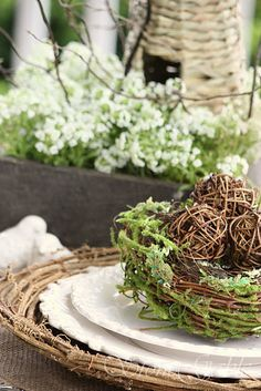 Spring Nesting Tablescape from StoneGable