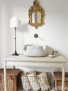 My Powder Room...Bathroom Decorating Inspiration: Veranda's Most Memorable Spaces - Veranda.com