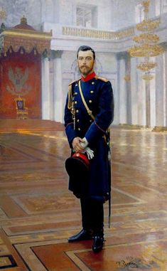 Portrait of Nicholas II The Last Russian Emperor, 1896 by Ilya Repin. Realism. portrait