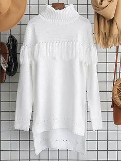 5bd241adf9 Frigirl The Limit Of Sunrise Fringed White Sweaters  frigirl  sweaters  white  White Sweaters