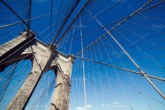 Brooklyn Bridge: Tower Arches by Sweetmango on @creativemarket