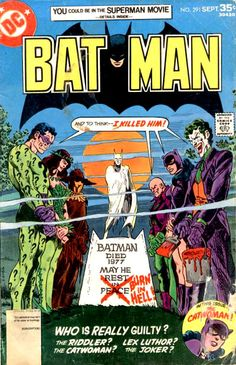 Another top notch Jim Aparo art cover for DC Comics; Death of Batman mystery 6 parter. Back in the day, this was some heavy stuff!