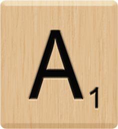 A Scrabble Tile: A Scrabble Tile