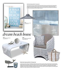"""Dream Beach House"" by cruzeirodotejo ❤ liked on Polyvore featuring interior, interiors, interior design, home, home decor, interior decorating, Park B. Smith, Salvo, Dot & Bo and Graypants"