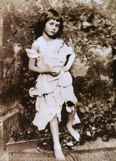"""Lewis Carroll took several photos of Alice Liddell, though the best known one is """"Portrait of Alice Liddell as the Beggar Child."""""""