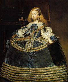 Diego  Velázquez (Spanish, 1599-1660) -  Retrato de la infanta Margarita , 1659