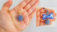 Crochet Beaded Bracelets, Beaded Bracelets Tutorial, Beaded Jewelry Patterns, Beaded Rings, Bead Jewellery, Pendant Jewelry, Making Bracelets With Beads, Jewelry Making Tutorials, Bridal Necklace