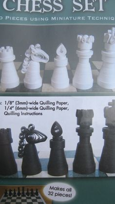 Chess Paper Quilling Kit Quilled Creations by JuliesQuilling, $8.00