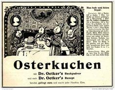 Original-Werbung/ Anzeige 1910 - OSTERKUCHEN - DR. OETKER´S BACKPULVER ca. 180 x 140 mm