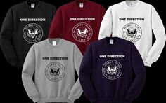 One Direction Ramones Logo Sweater Sweatshirt Crewneck Men or Women Unisex Size