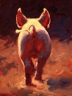 Pigs backside art