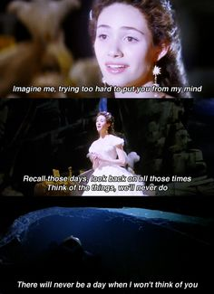 Think of Me -- Phantom of the Opera. Totally just sung that in my head too haha