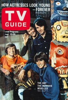 The Monkees appeared on the cover of TV Guide twice in 1967.