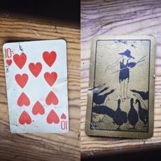 An old playing card, found down the back of the skirting board in bedroom 2 Day Off Work, Skirting Boards, Long Weekend, Playing Cards, Bedroom, House, Day Off, Home, Playing Card Games